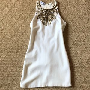 Fitted embellished dress with racer back